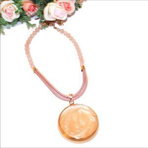 Chico's Rose Quartz Marcela Pendant Necklace